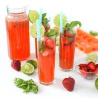 Strawberry Basil Limeade | Salty Canary