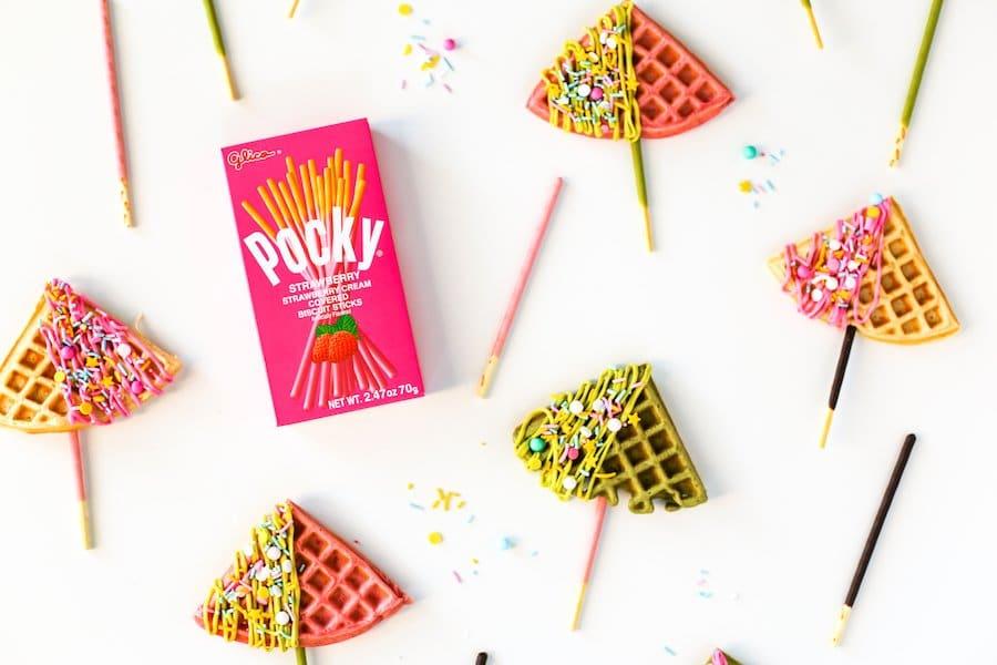 Waffle Pocky Pops // Salty Canary