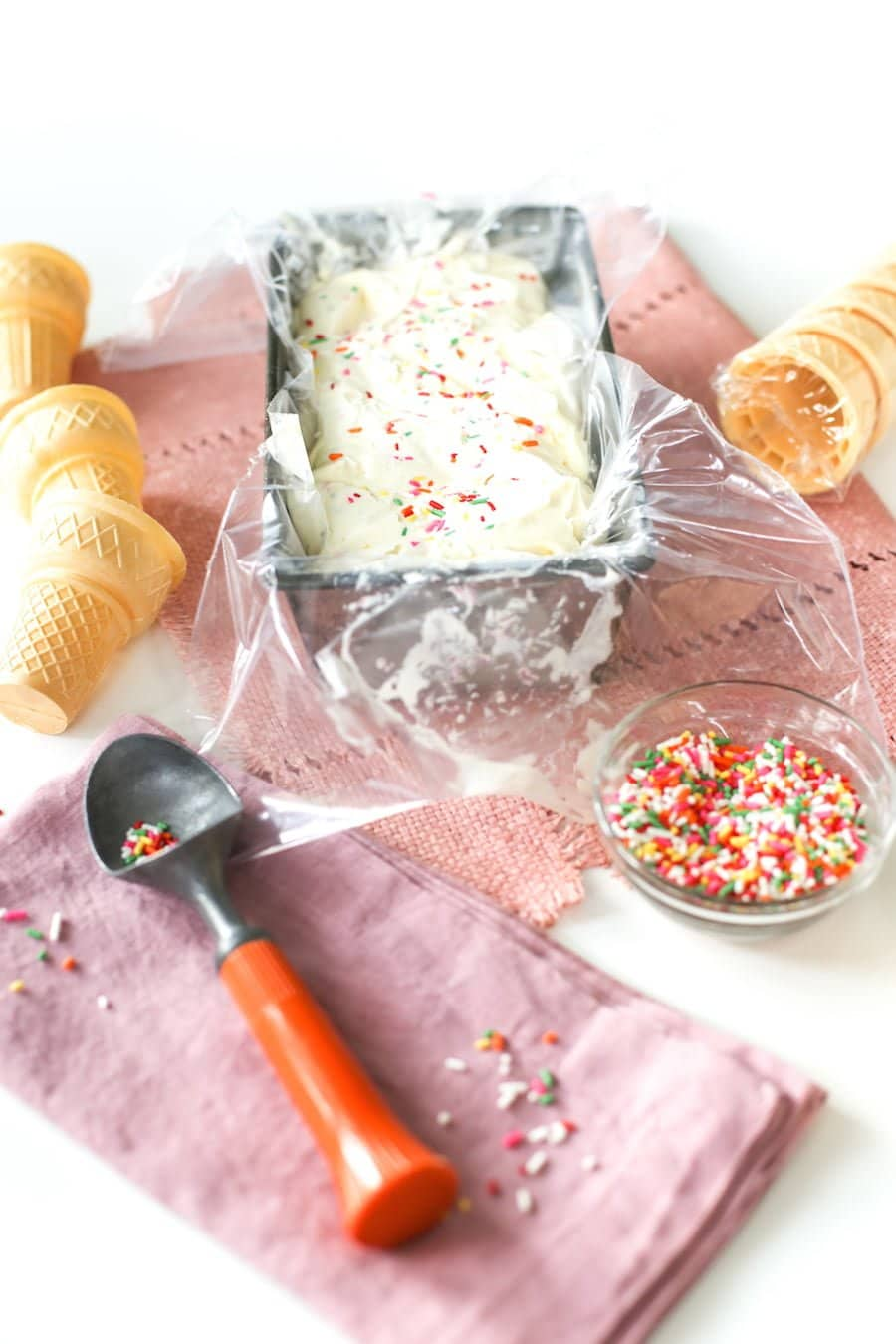 Cake Batter Ice Cream // Salty Canary