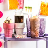Quick and Easy Ice Cream Sundae or Root Beer Float Party // Salty Canary