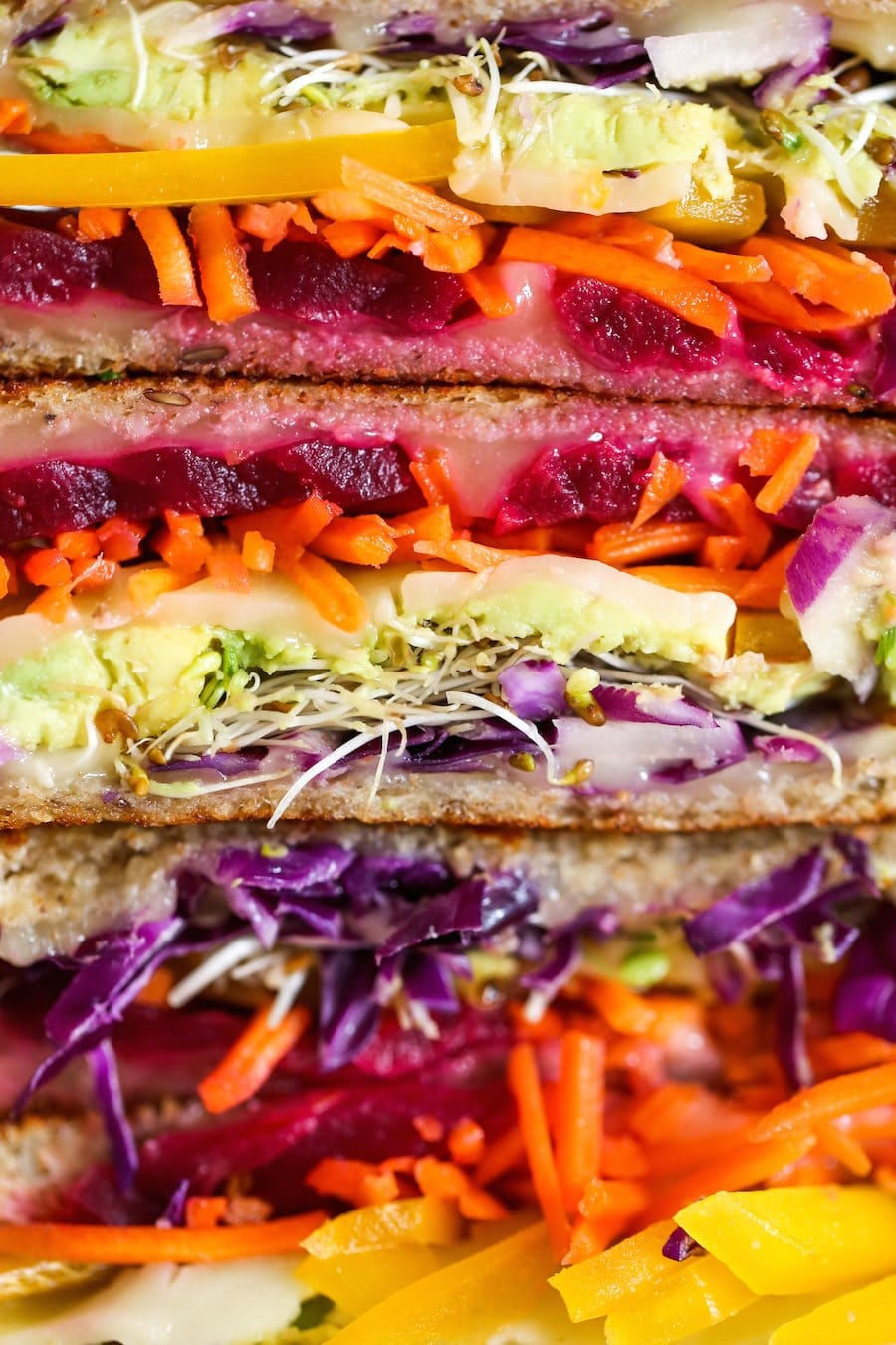 Rainbow Veggie Grilled Cheese Sandwich // Salty Canary