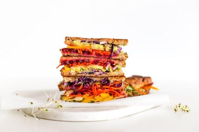 Rainbow Veggie Grilled Cheese Sandwich // Salty Canary