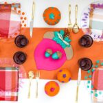 DIY Colorful Friendsgiving Table on a Budget