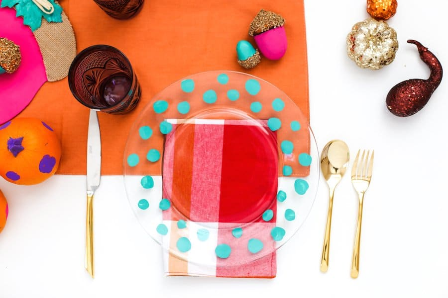 DIY Colorful Friendsgiving Table On A Budget // Salty Canary