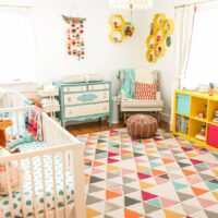 Colorful Boy & Girl Twin Nursery