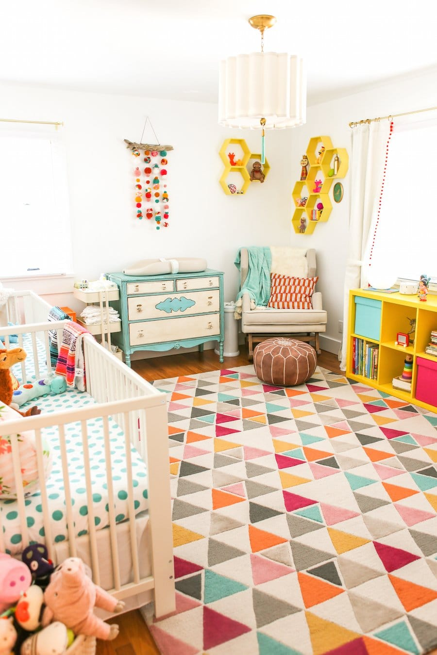 Baby Boy Room Color Ideas: Colorful Twin Nursery