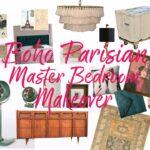 Boho Parisian Master Bedroom Makeover Mood Board // Salty Canary