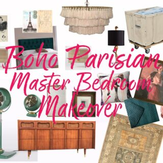 Boho Parisian Master Bedroom Makeover Mood Board // Salty Canary