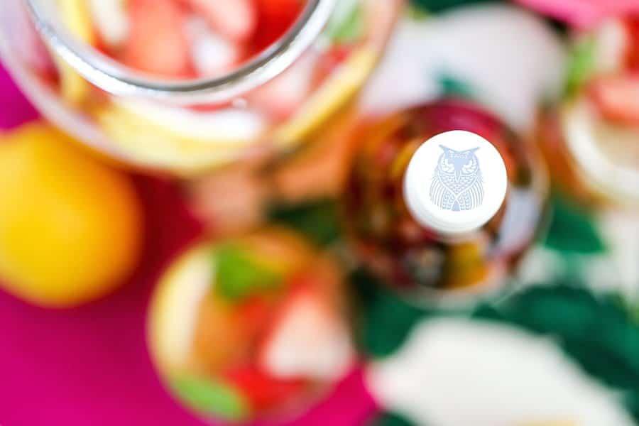 Strawberry Basil Lemonade Sangria // Salty Canary