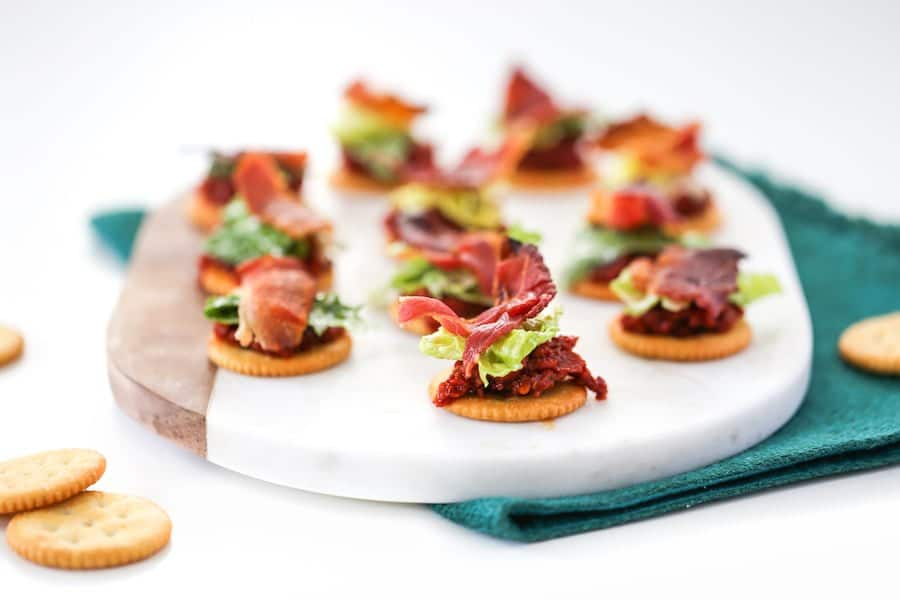 BLT Bites with RITZ Crackers // Salty Canary