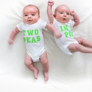 Two Months Old Two Peas in a Pod Twins // Salty Canary