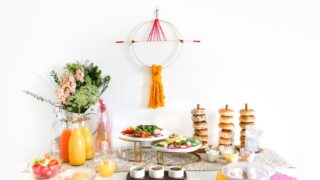 A Simple and Modern Sip & See Party with Bagel and Mimosa Bar // Salty Canary