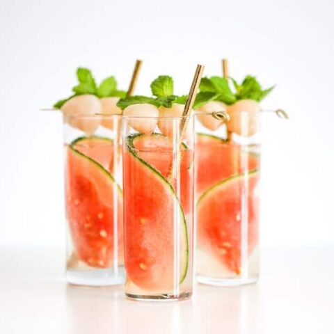Sparkling Watermelon Lychee Cocktail