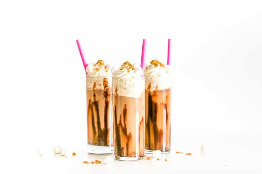 Cold Brew Coffee S'mores Floats // Salty Canary