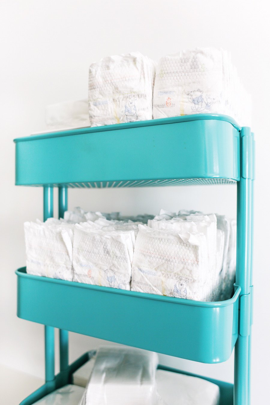 Twin Diaper Changing Stations // Salty Canary