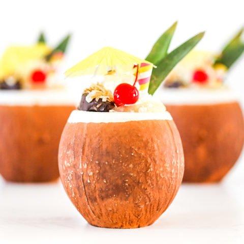 Pina Colada Milkshake Recipe, Over the Top Milkshakes, Recipe, Freakshake, Tropical Milkshake, Pineapple Coconut Milkshake, Salty Canary5