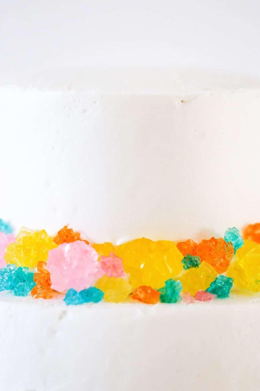 DIY Rainbow Rock Candy Bakery Cake Hack // Salty Canary