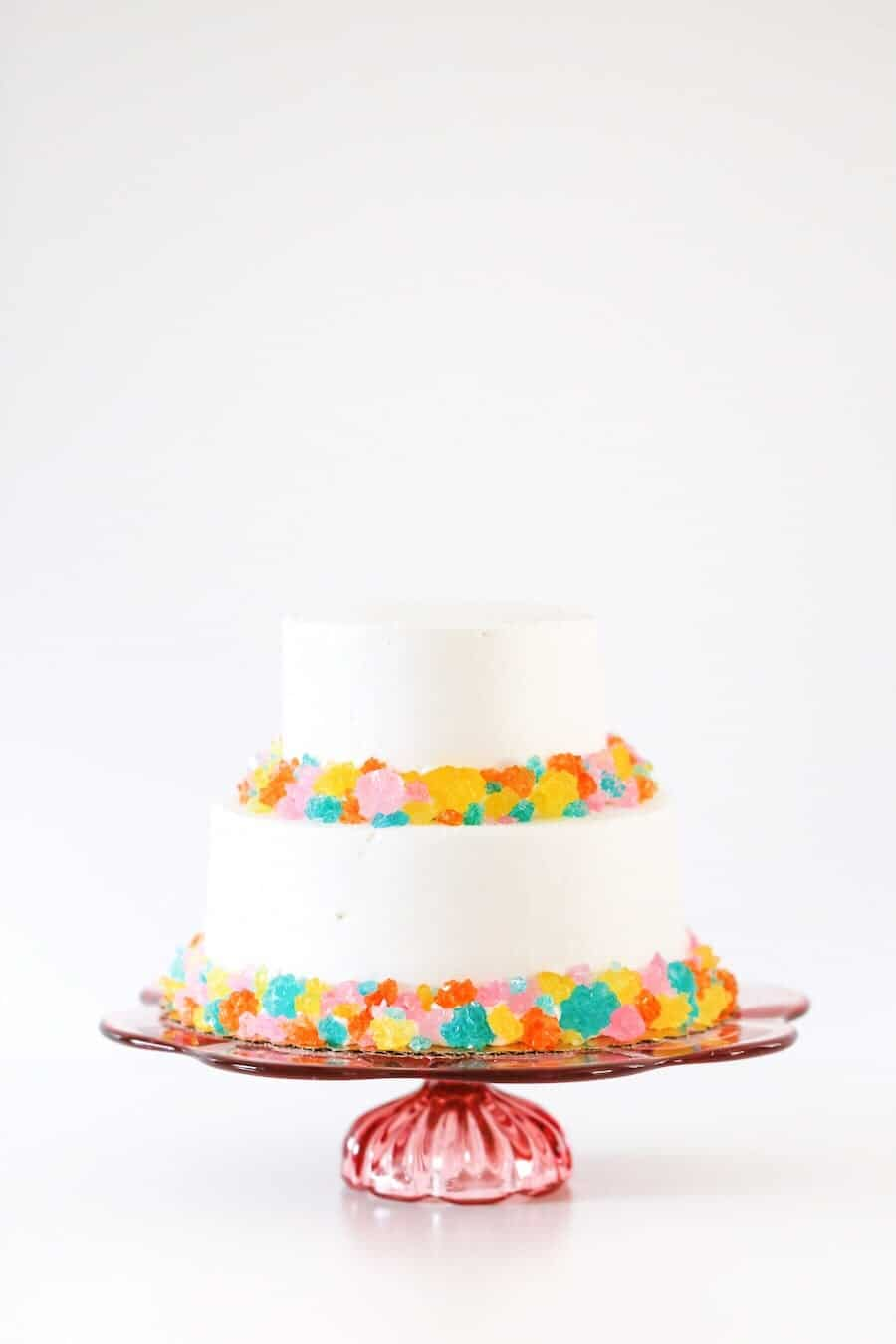 DIY Rainbow Rock Candy Bakery Cake Hack // Salty Canary