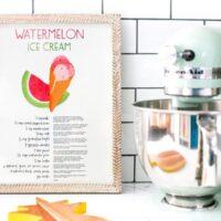 Free Print of Watermelon Ice Cream Recipe // Salty Canary