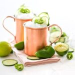 Jalapeño Cucumber Moscow Mule Cocktail Drink Recipe in Copper Mugs Salty Canary