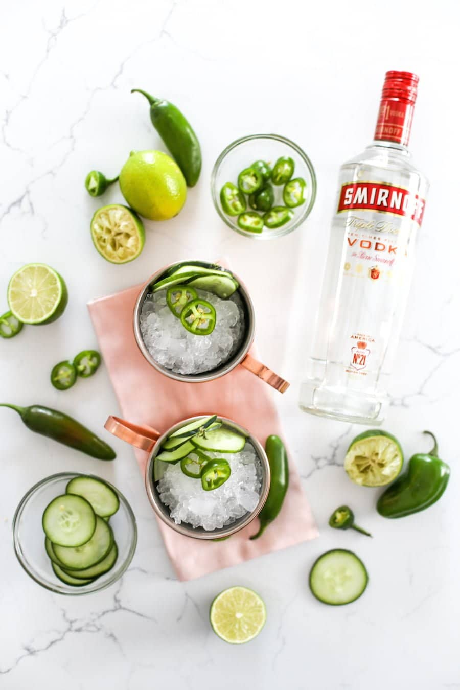 Jalapeño Cucumber Mule Recipe // Salty Canary