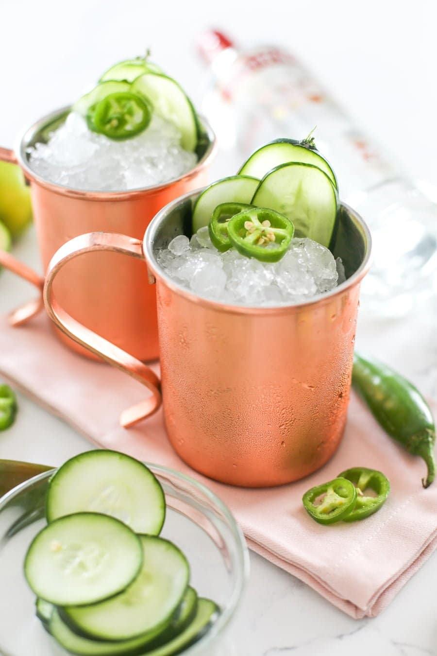 Jalapeño Cucumber Mule Recipe // Salty Canary