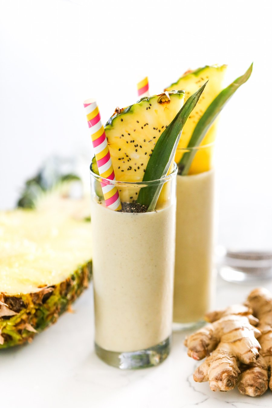 Pineapple Ginger Smoothie Recipe // Salty Canary