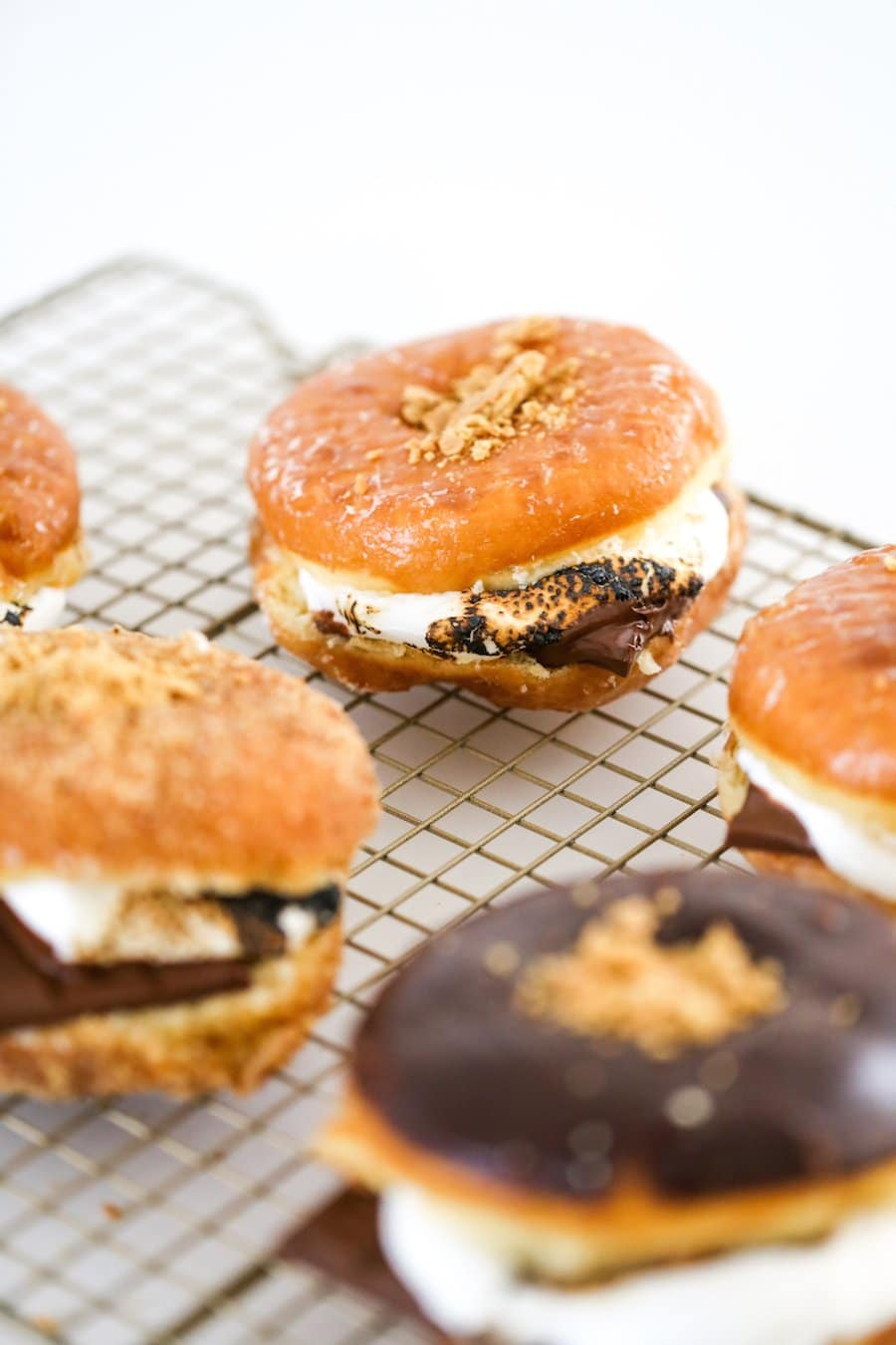S'mores Donuts, S'mores Donuts Recipe, Store Bought Donuts, Easy S'mores Donuts, Roasting Marshmallows, Firepit, S'mores Summer, Salty Canary