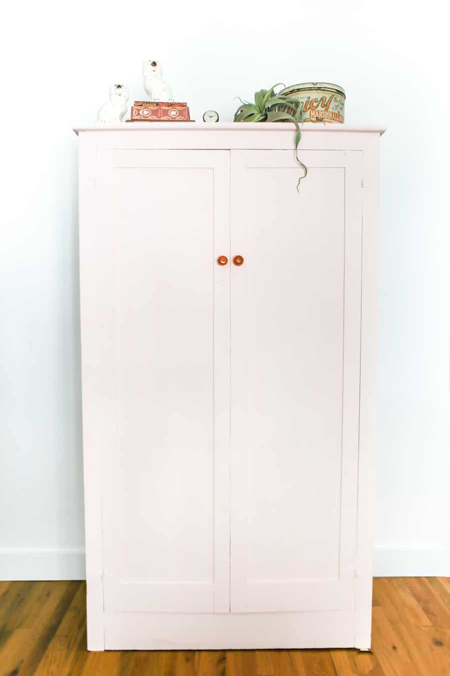Vintage Armoire Cabinet Makeover with Chalk Paint // Salty Canary