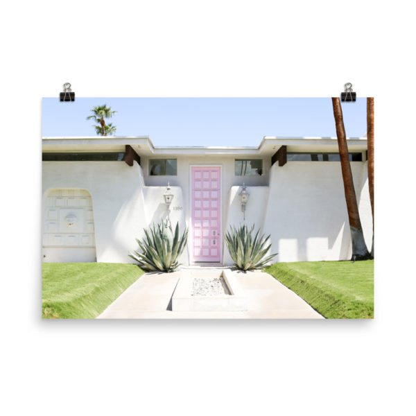 That Pink Door Photo Print, Palm Springs, Midcentury Modern, Art Print, Desert, Doors, Salty Canary,