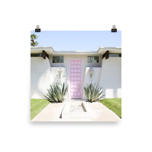 That Pink Door Photo Print, Palm Springs, Midcentury Modern, Art Print, Desert, Doors, Salty Canary,