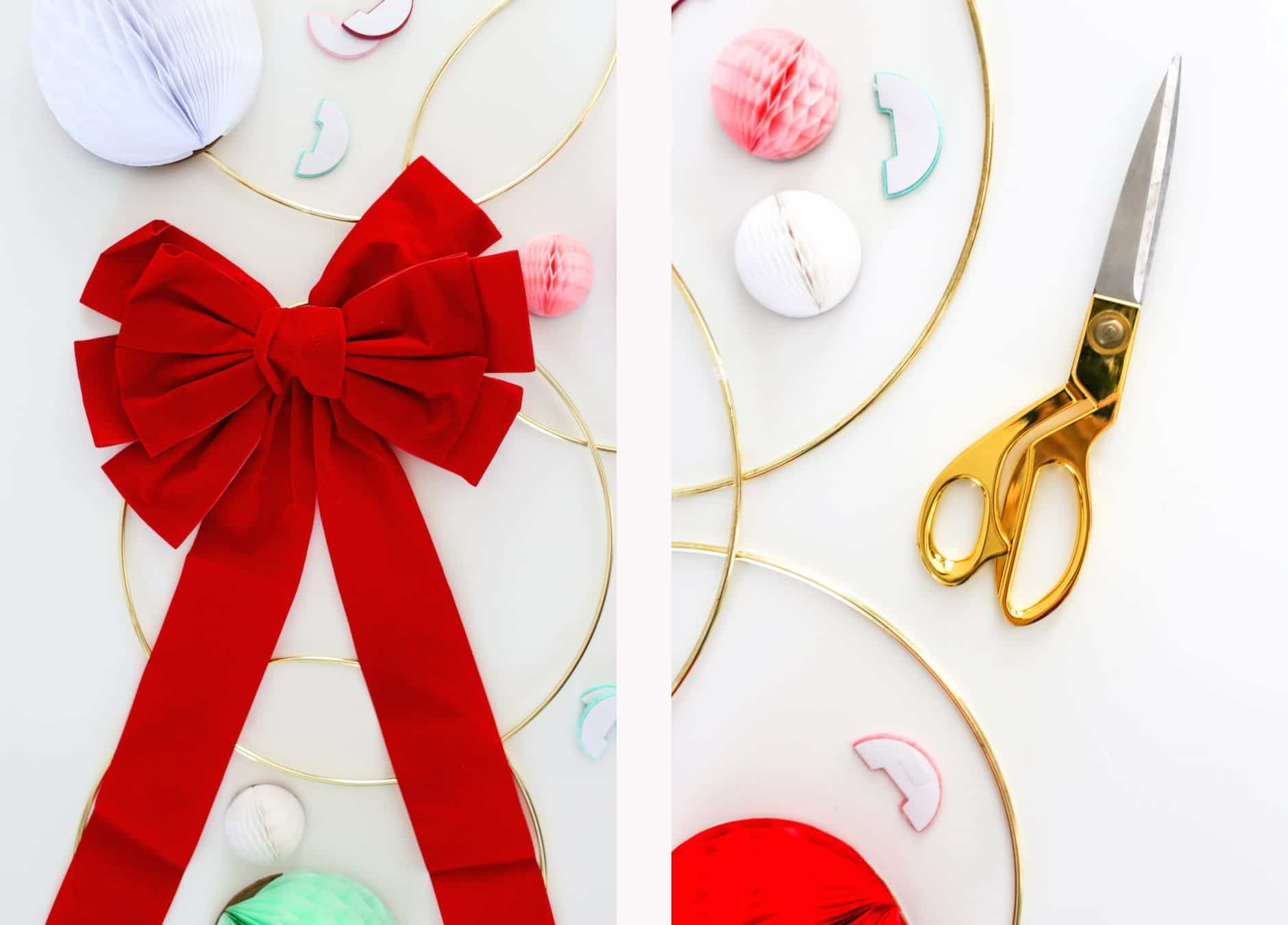 Host a Modern Holiday Wreath Making Party, How to Throw a Wreath Making Party, Honeycomb Wreath, DIY Holiday Wreath Party, Brunch, Holiday Wreath-Making Brunch Party, Christmas Wreath-Making Party, Honeycomb Christmas Wreath Tutorial, How to Throw a Wreath Making Party