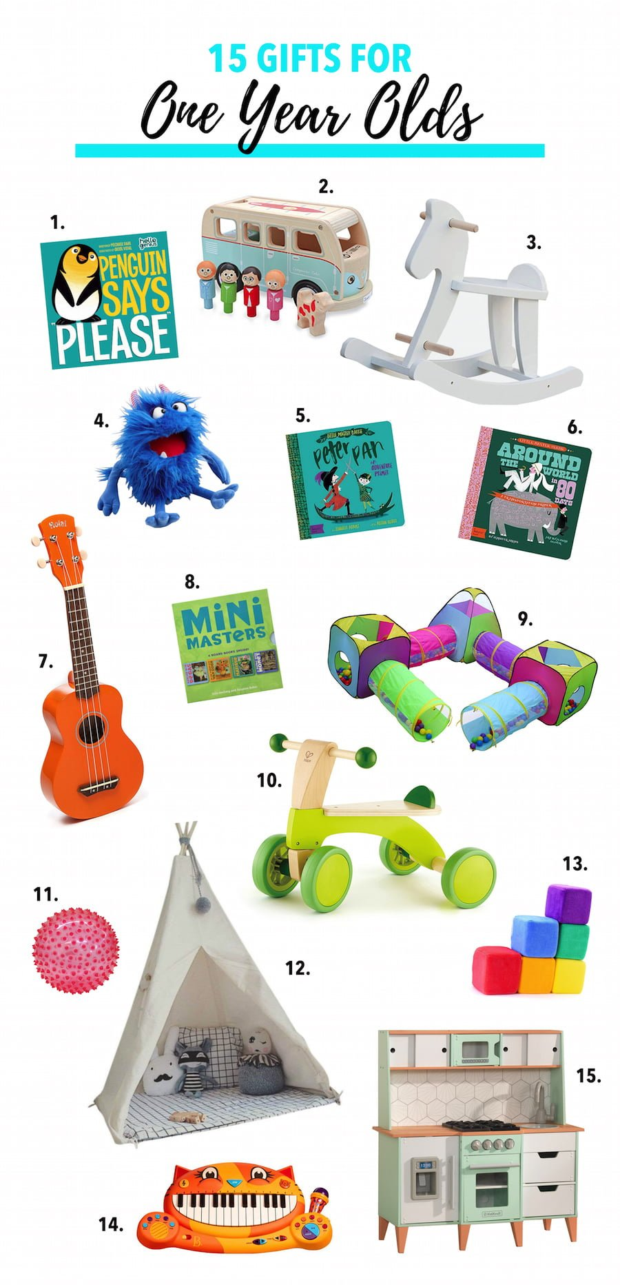 15 Gifts for One-Year-Olds