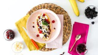Healthy Banana Split for Breakfast or Dessert
