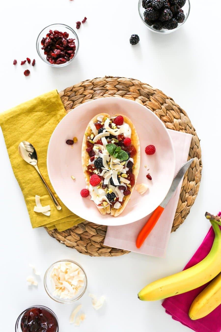 Healthy Banana Split for Breakfast or Dessert // Salty Canary