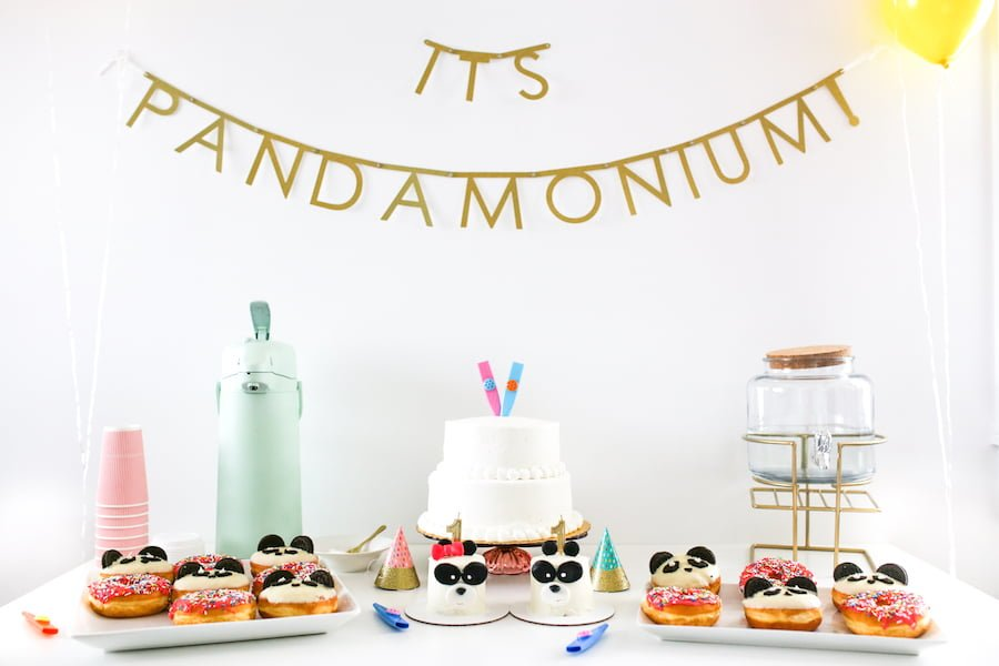 Its Pandamonium Panda Twin Birthday Party Salty Canary