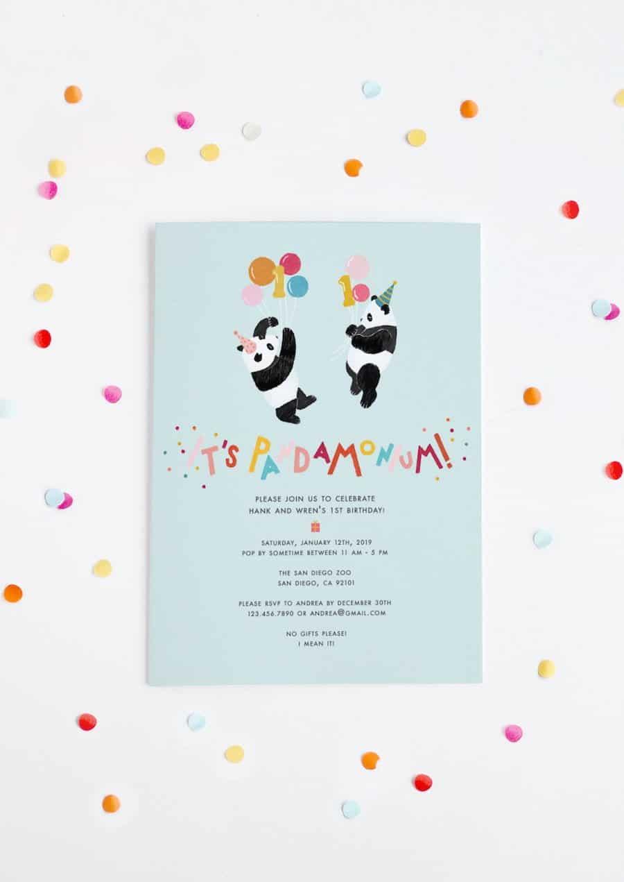 Its Pandamonium Panda Twin Birthday Party Salty Canary