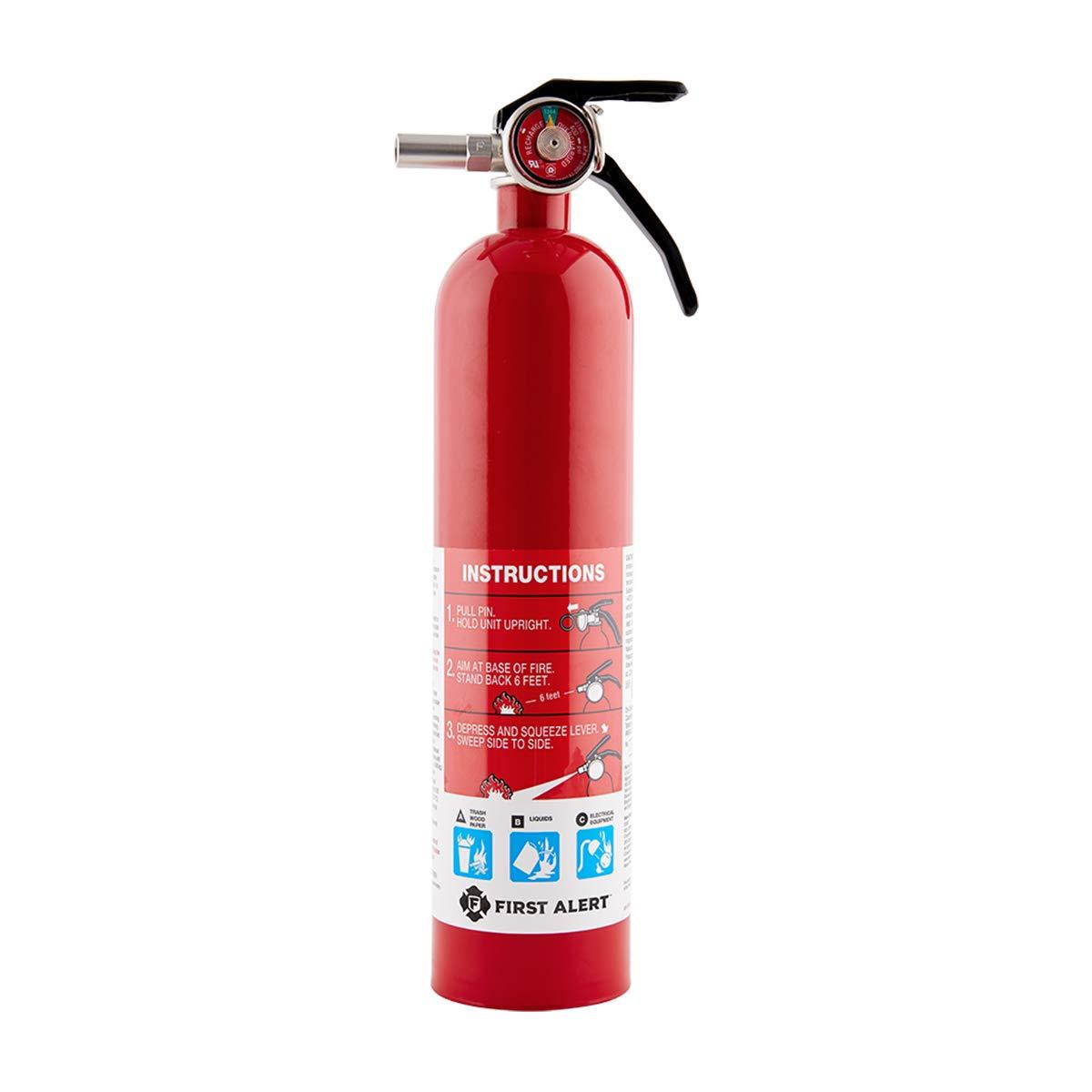 First Alert Fire Extinguisher | Standard HomeFireExtinguisher, Red, 1038789