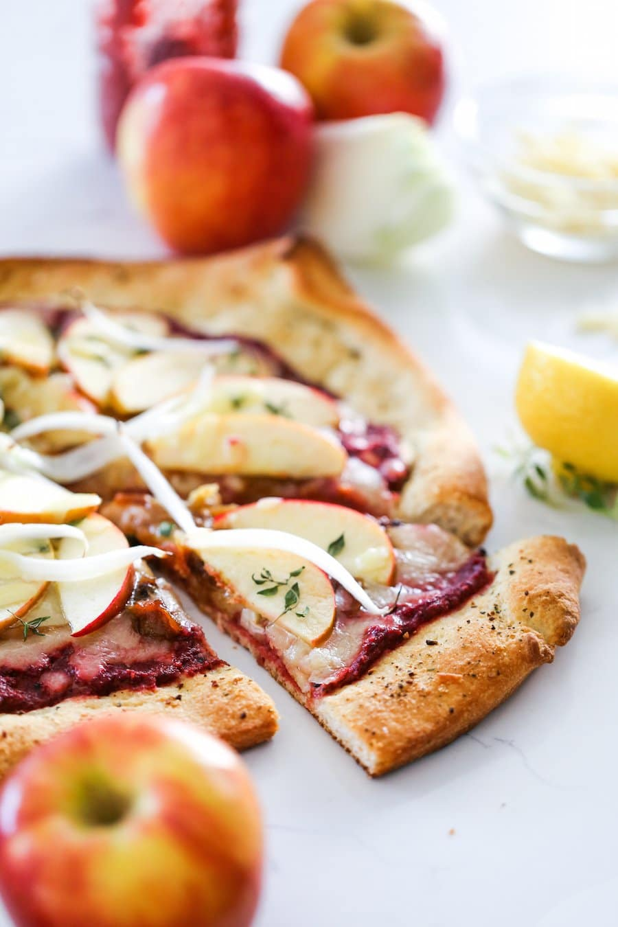Apple Beet and Caramelized Onion Pizza // Salty Canary