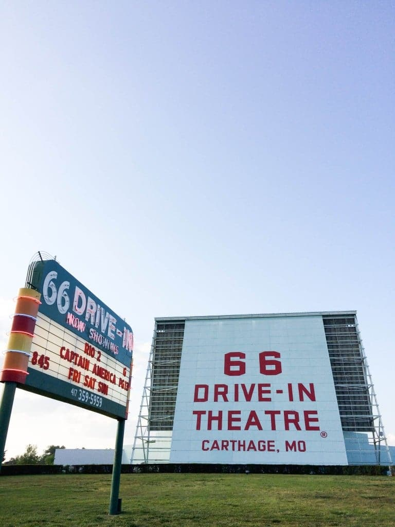 Route 66 Road Trip, Route 66 Drive-in Theater, Carthage Missouri // Salty Canary