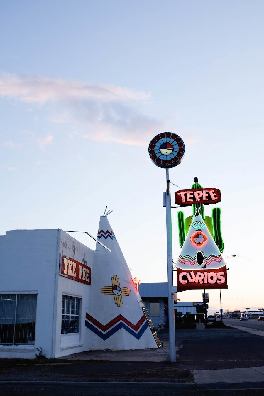 Route 66 Road Trip, Tepee Curios Neon, Tucumcari New Mexico // Salty Canary