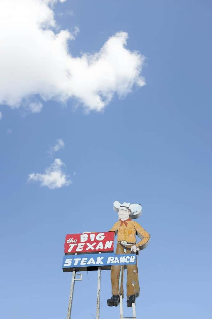 Route 66 Road Trip, The Big Texan in Amarillo, Texas // Salty Canary