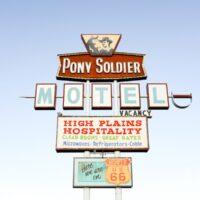 Route 66 Road Trip Ultimate Guide, Pony Soldier Motel Sign in Tucumcari, New Mexico