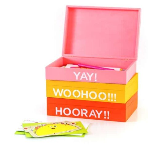 DIY Greeting Card Organizer Box