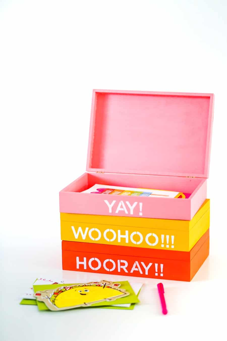 DIY Greeting Card Organizer Box // Salty Canary
