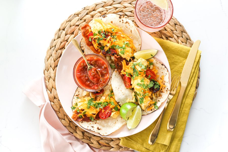 Freezer Friendly Breakfast Tacos // Salty Canary