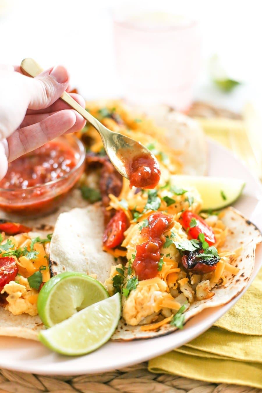 Freezer Friendly Breakfast Tacos // Salty Canary