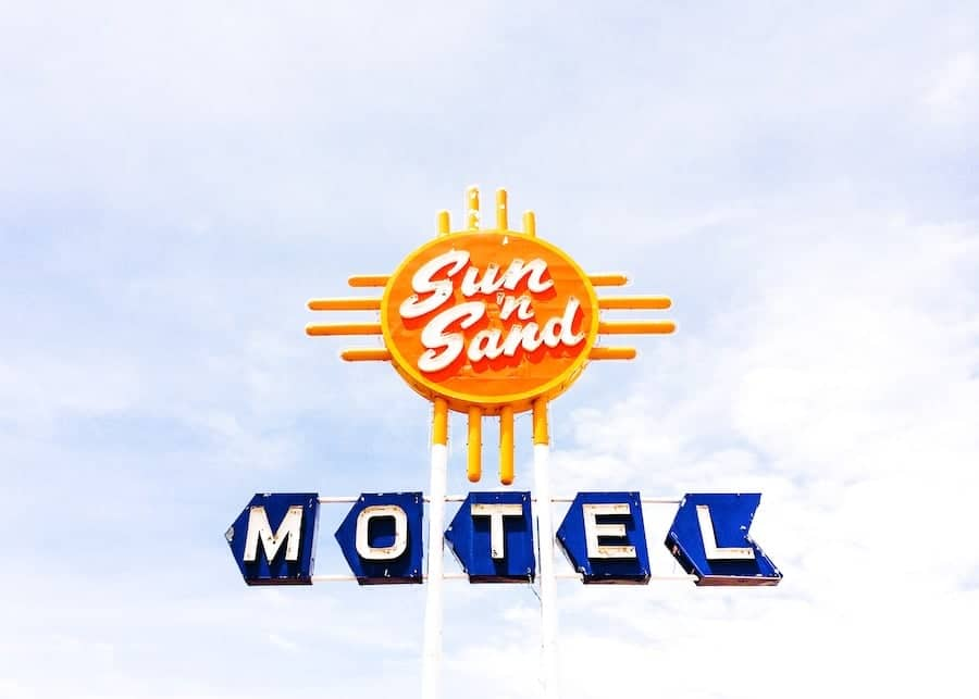 Sun 'N Sand Motel in Santa Rosa, New Mexico is one of the 21 Best Instagram Stops Along Route 66