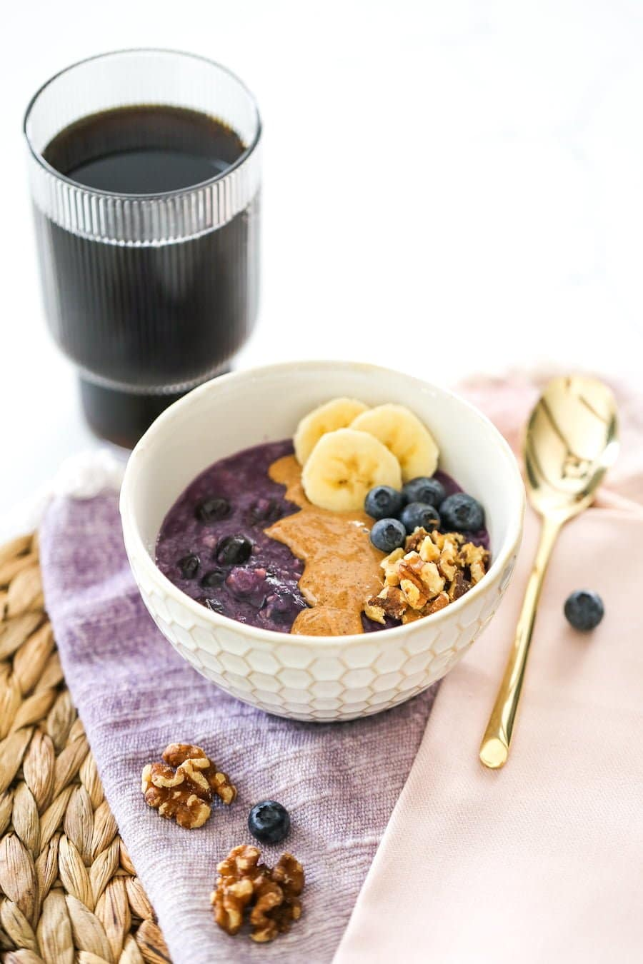 Blueberry Banana Oatmeal // Salty Canary