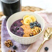 Freezer-Friendly Blueberry Banana Oatmeal